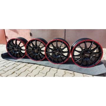 4x 6.5x15 5x114,3 RONAL R54 MCR -RED RIM