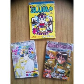 Lodoss t.1, Slump t.1, Sailormoon t.12