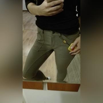 Bryczesy spodnie do jazdy konnej HKM r.M