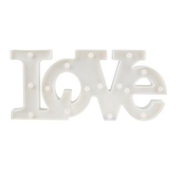 LOVE PLASTIKOWE LED