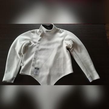 strój szermierczy bluza, spodnie, plastron lewy