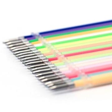 Kolorowe wkłady zelowe do długopisow 100szt