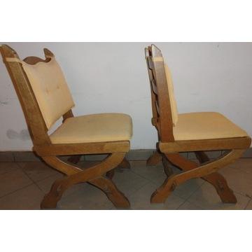 Drewniane mocne krzesła