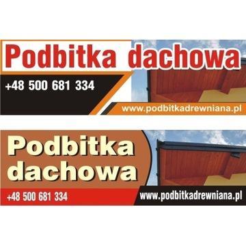 Podbitka dachowa, boazeria, deska elewacyjna bal