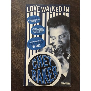 JAZZ LOVE WALKED IN CHET BAKER 4 CD + książka