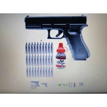WIATRÓWKA pistolet GLOCK 22 Gen4 ZESTAW 30 CO2 +BB