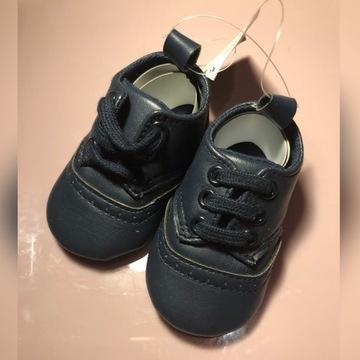 NOWE Granatowe buty/buciki dla dziecka rozmiar 17