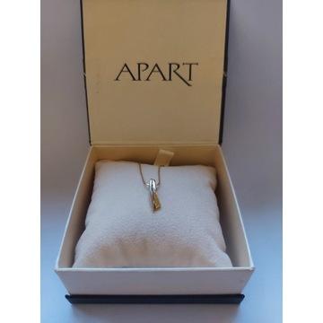 Naszyjnik złoty 585 z diamentem (brylantem) APART