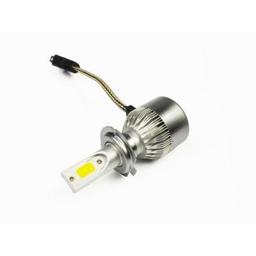 Zestaw LED COB H7 C6 72W 7600 lm żarówki 2szt