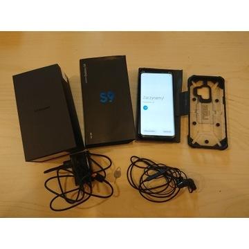 Zestaw SAMSUNG GALAXY S9 DUOS 64GB czarny jak nowy