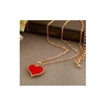 Naszyjnik serce szczęścia czerwone twój amulet