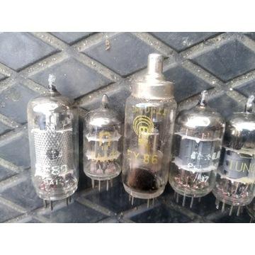 Lampy elektronowe pcl86 eaa91 ef184 pcf80 ef89