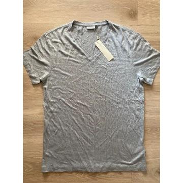 J.Lindeberg koszulka t-shirt szara serek len M