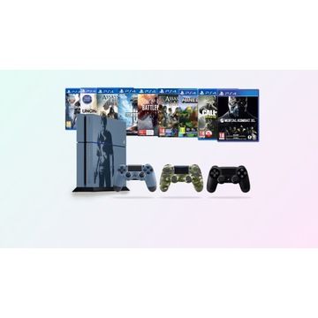 PS4 - Uncharted Edition 500GB + 3 PADY + 9 GIER !!