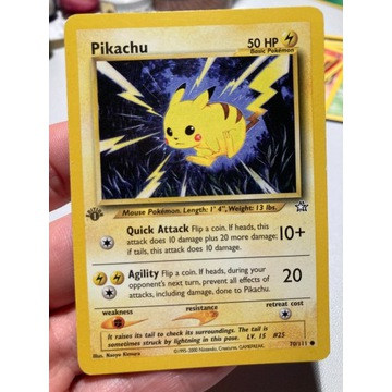 Pokemon karta Pikachu 70/111 1st Edition