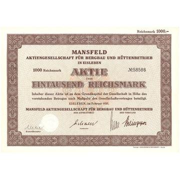 Koncern górniczo-hutniczy - Eisleben 1937 r.