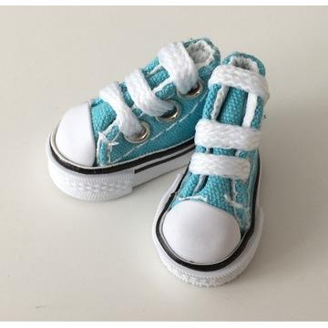 Buty dla lalki mini trampki 3cm akcesoria handmade