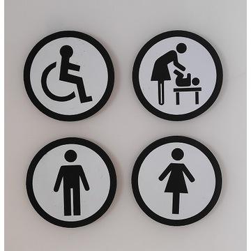 Silny Magnes oznaczenie drzwi toalety WC.