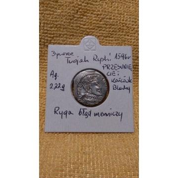 """TROJAK 3 grosze 1596 """"Ryga"""""""