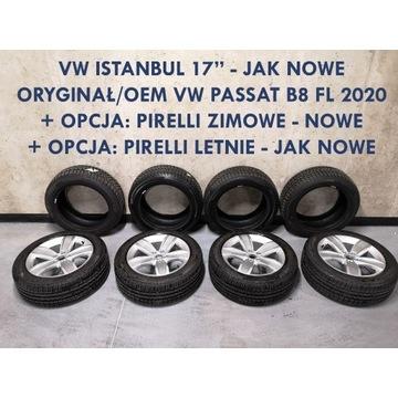 "Oryginał 17"" Istanbul OEM VW Passat B8 - JAK NOWE!"