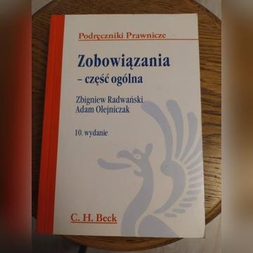 Zobowiązania część ogólna Radwański wydanie 10