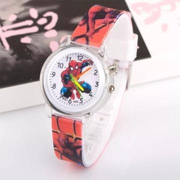 Zegarek Spiderman świecący!!! Czerwony