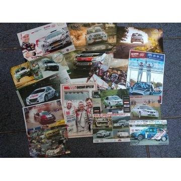 Karty kierowców rajdowych autografy