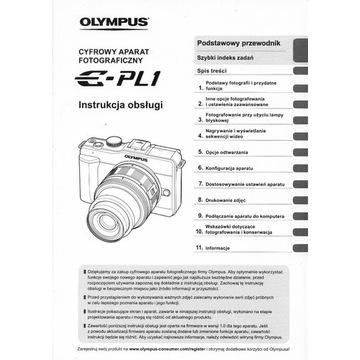 Instrukcja obsługi aparatu Olympus E-PL1