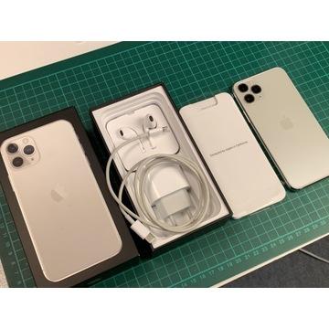 iPhone 11 Pro Silver 64GB, idealny stan,gwarancja