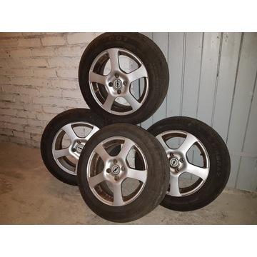Opony 15 cali 4 szt. + alufelgi Opel (Astra).....