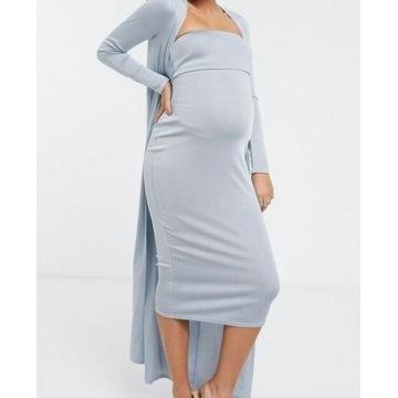 (38/M)ASOS/ ZESTAW:Sukienka ołówkowa+narzutka/NOWY