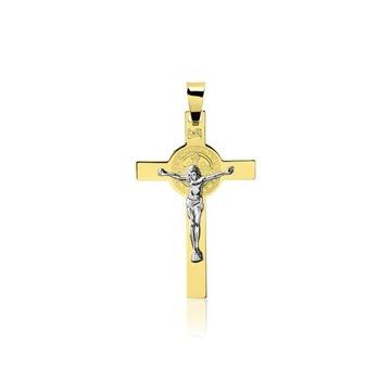 Złoty Krzyżyk z Włoch 585 14k KOMUNIA ! najtaniej