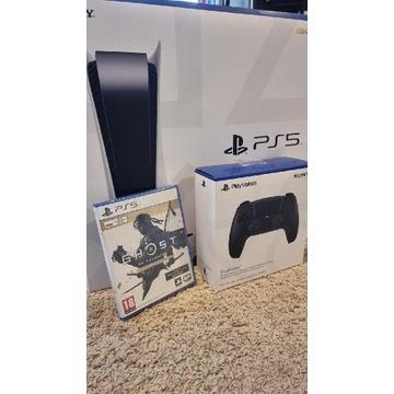 PlayStation 5 nowa z napędem 2x pad gw. Od ręki