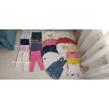Zestaw ubrań dziewczęcych r.92-98, 2-3lata