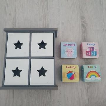 Książeczki dla niemowląt + mini szafeczka