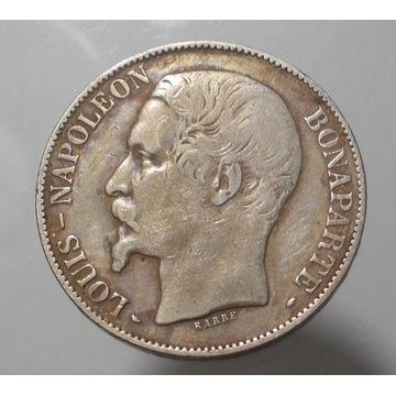 5 Franków 1852 r.  A