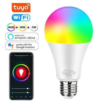 Smart Żarówki e27 12w RGB+WW+CW Tuya wifi smarthom