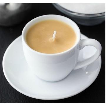 HANDMADE Piękna oryginalna świeca o zapachu kawy