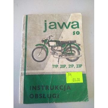 Jawa Jawka sport 20P 21P 23 instrukcja obsługi PRL