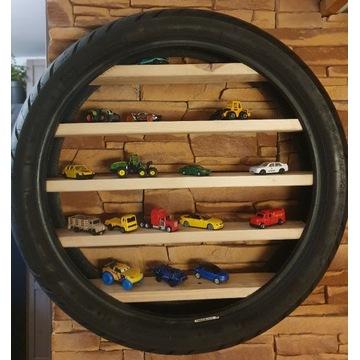Półka na Resoraki Auta Hot Wheels OPONA motocykl