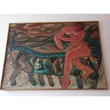 """Obraz """"Andromeda"""", 1967, Holenderski, E. Heyman"""