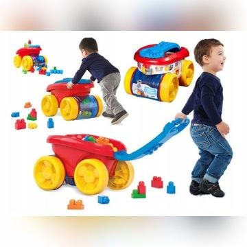 Mega Bloks zbieracz klocków, pojazd, wózek+ klocki