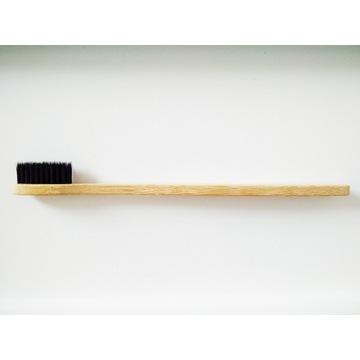 Bambusowa szczoteczka do zębów eko średnia czarna