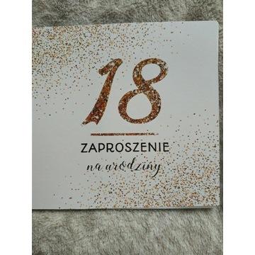 Zaproszenia na 18 urodziny- 20 sztuk+ koperty