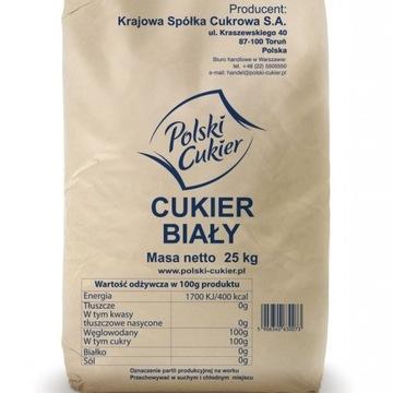 Polski Cukier biały 25 kg