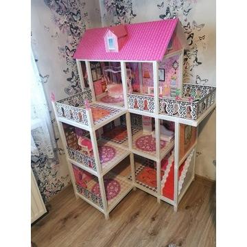 Domek plastikowy dla lalek Barbie wraz z mebelkami