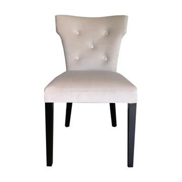 zestaw 4 welurowych krzeseł
