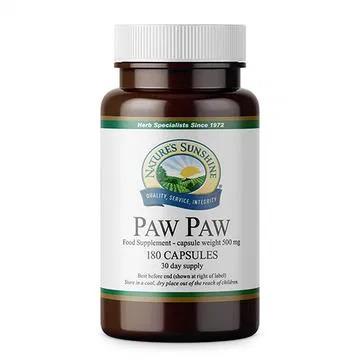 NATURE'S SUNSHINE SUPLEMENT DIETY PAW PAW 180 KAPS