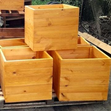 Donice Ogrodowe/Tarasowe drewniane doniczki skrzyn