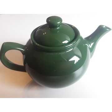 Imbryk,czajnik zielony ceramiczny